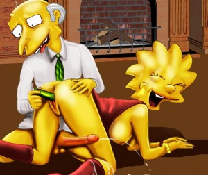 Lisa Simpson with dildo i